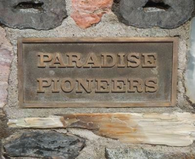 Paradise Pioneers Marker, Side 1 image. Click for full size.