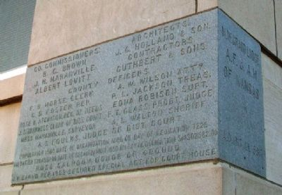 Ness County Courthouse Cornerstone image. Click for full size.