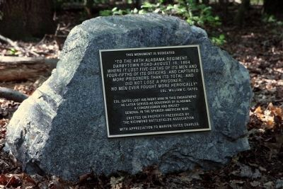 48th Alabama Regiment Monument image. Click for full size.
