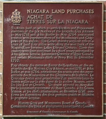 Niagara Land Purchases Marker image. Click for full size.