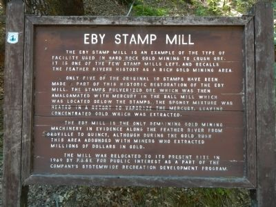 Eby Stamp Mill Marker image. Click for full size.