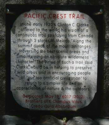Pacific Crest Trail Marker image. Click for full size.