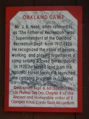 Oakland Camp Marker image. Click for full size.