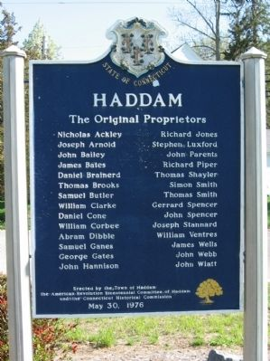 Haddam Marker image. Click for full size.
