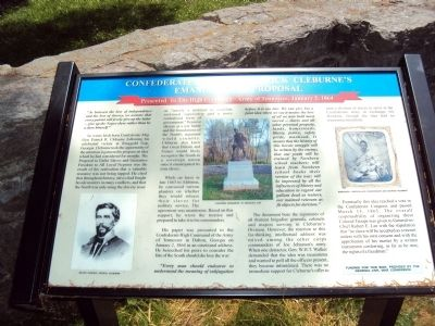 Confederate General Patrick Cleburne's Emancipation Proposal Marker image. Click for full size.