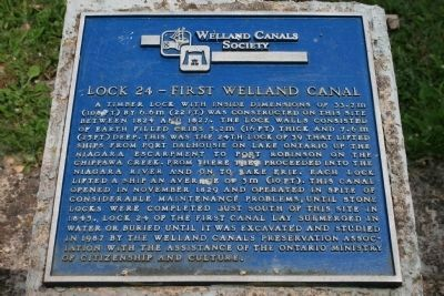 Lock 24 - First Welland Canal Marker image. Click for full size.