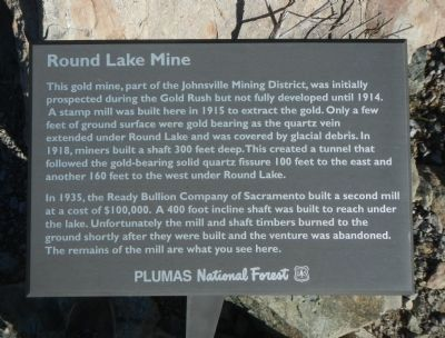 Round Lake Mine Marker image. Click for full size.