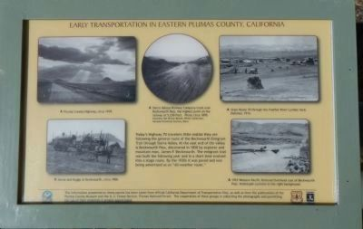 Early Transportation in Eastern Plumas County, California Panel 4 image. Click for full size.