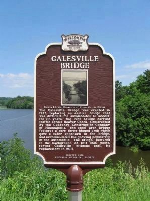 Galesville Bridge Marker image. Click for full size.