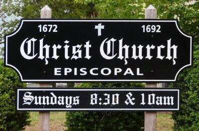 Christ Church Sign image. Click for full size.
