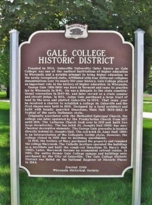 Gale College Historic District Marker image. Click for full size.