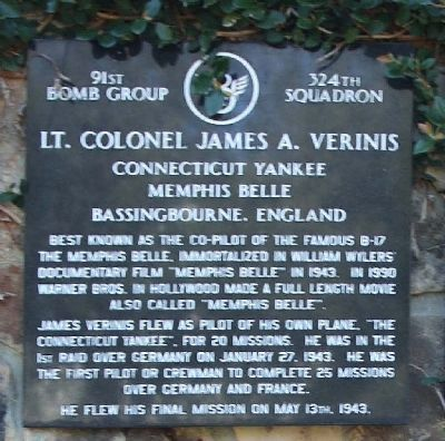 Lt. Colonel James A. Verinis Marker image. Click for full size.