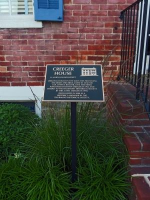 Creeger House Marker image. Click for full size.