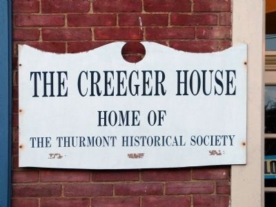 Creeger House Sign image. Click for full size.