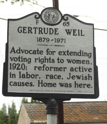 Gertrude Weil Marker image. Click for full size.