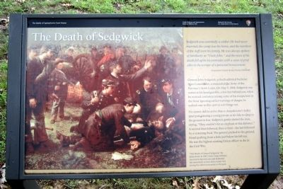 The Death of Sedgwick Marker image. Click for full size.