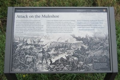 Attack on the Muleshoe Marker image. Click for full size.