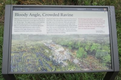 Bloody Angle, Crowded Ravine Marker image. Click for full size.
