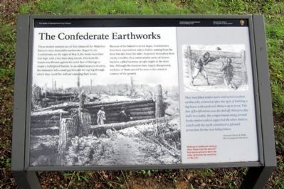 The Confederate Earthworks Marker image. Click for full size.
