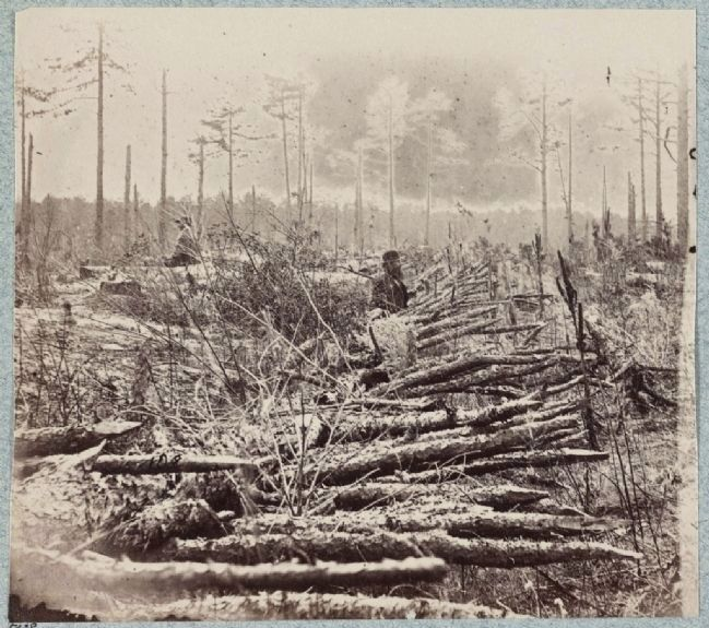 Confederate entrenchments near 5035 (junction of old and new Court House Roads) image. Click for full size.
