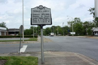 Thomas J. Jarvis Marker, Green Street at West Second Street image. Click for full size.