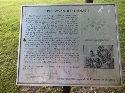 The Wyandot Indians Marker image. Click for full size.