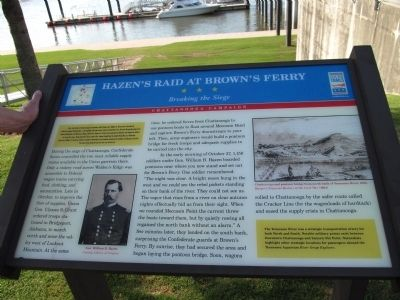 Hazen's Raid at Brown's Ferry Marker image. Click for full size.