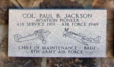 Col. Paul B. Jackson Marker image. Click for full size.