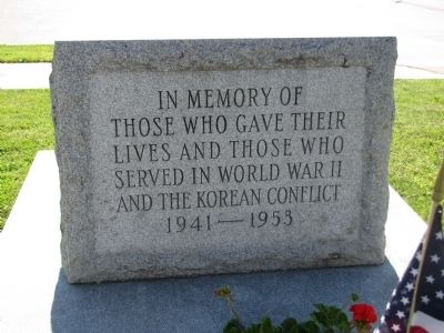 Charlestown World War II and Korean Conflict Memorial Marker image. Click for full size.