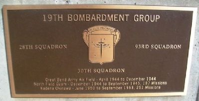 19th Bombardment Group Marker image. Click for full size.