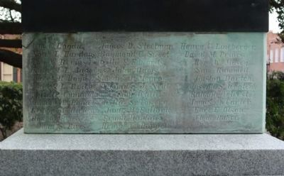 Company E, 119th Infantry, Goldsboro Rifles World War I Monument South face image. Click for full size.