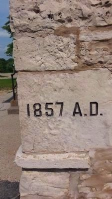 The Cornerstone of the White Limestone School Building image. Click for full size.