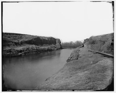 Completed canal, April 1865 image. Click for full size.