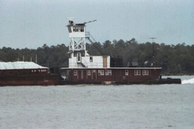 Towboat Pushing A Barge Through The Intra-Coastal Canal In The Orange Beach Area image. Click for full size.