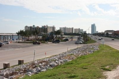 Looking West Along Perdido Beach Blvd In Orange Beach, Alabama. image. Click for full size.