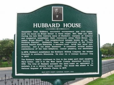 Hubbard House Marker image. Click for full size.