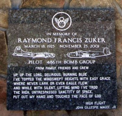 In Memory of Raymond Francis Zuker image. Click for full size.