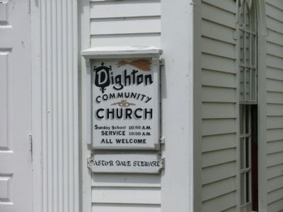 Dighton Community Church Marker image. Click for full size.