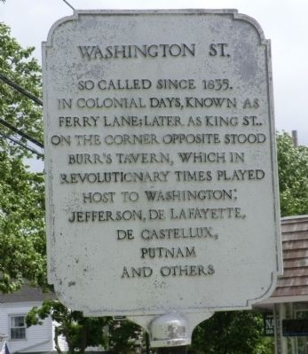 Washington St. Marker image. Click for full size.