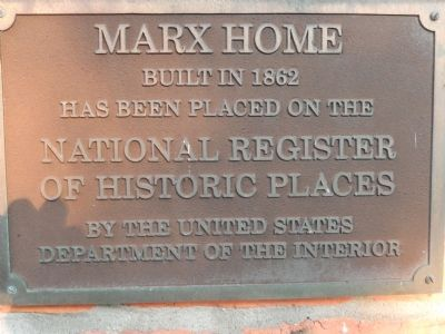Marx Home Marker image. Click for full size.
