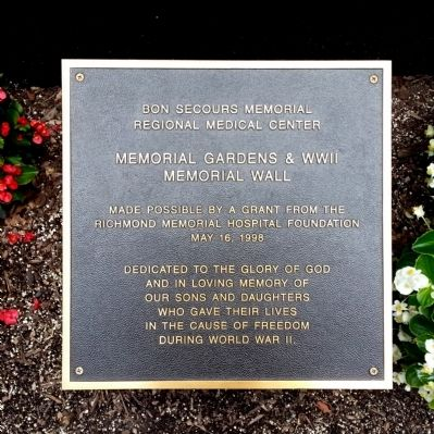 Memorial Gardens & WWII Memorial Wall image. Click for full size.