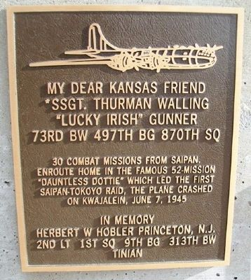 SSgt Thurman Walling Marker image. Click for full size.