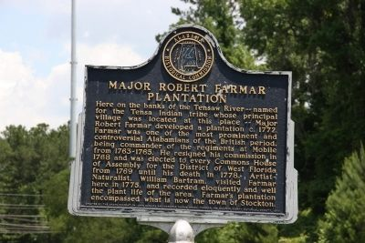 Major Robert Farmar Plantation Marker image. Click for full size.