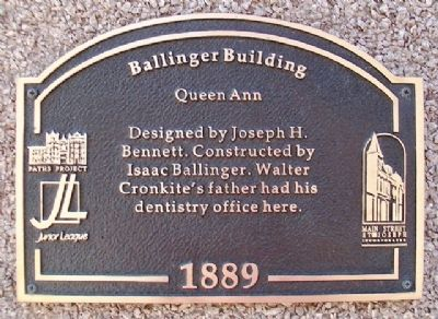Ballinger Building Marker image. Click for full size.