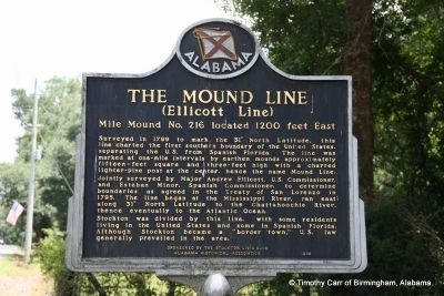 The Mound Line Marker image. Click for full size.