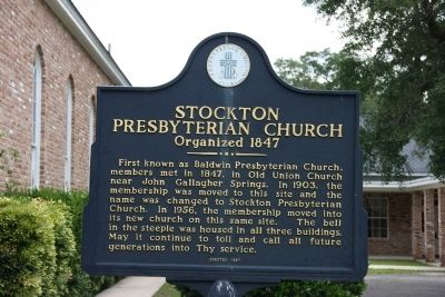 Stockton Presbyterian Church Marker image. Click for full size.