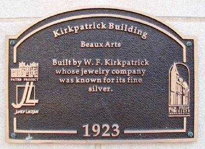 Kirkpatrick Building Marker image. Click for full size.