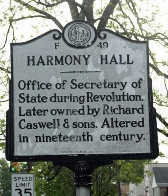 Harmony Hall Marker image. Click for full size.