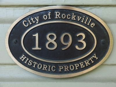 1893<br>City of Rockville Historic Property image. Click for full size.