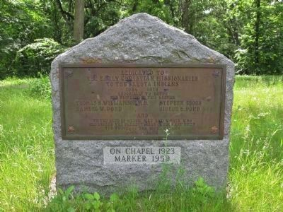 Nearby Christian Missionaries Marker image. Click for full size.
